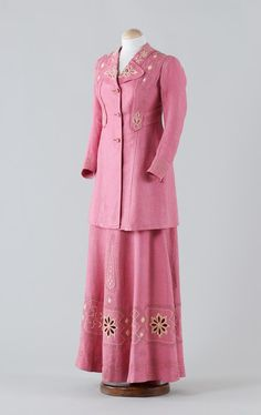 Suit: ca. 1900, Hungarian, embroidered linen.