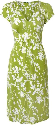 Dickins & Jones Green Floral Print Jersey Dress in Green - Lyst needs longer torso length