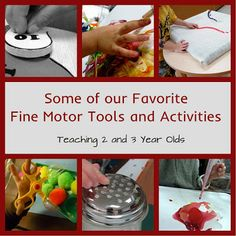 Some of our favorite fine motor tools and activities for preschoolers, that can be done at school or at home! (Teaching 2 and 3 Year Olds) not all are DAP Preschool Lessons, Preschool Learning, Learning Tools, Early Learning, Fun Learning, Preschool Ideas, Preschool Phonics, Preschool Centers, Fall Preschool