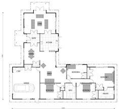 4 bedroom l shaped house plans design styles house plans l s U Shaped House Plans, U Shaped Houses, Small House Plans, House Floor Plans, The Plan, How To Plan, Home Design Plans, Plan Design, Rambler House Plans