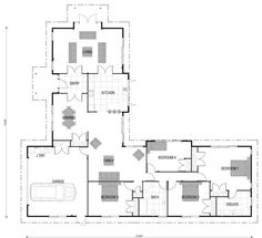 Home Building, Wooden Floor & Timber Frame House Plans New Zealand l shaped…