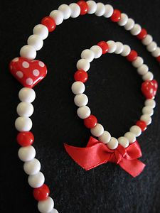 cute kids necklace & bracelet set