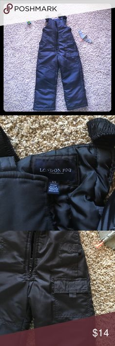✨Black, practically new, snow pants! Boys London Fog snowpants. Hardly worn, EUC. Reinforced knees, pocket, easy slid zipper. London Fog Other