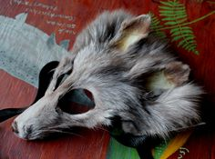 Amber fox taxidermy mask by Lupa. At https://www.etsy.com/listing/215859489/real-eco-friendly-amber-fox-fur-mask