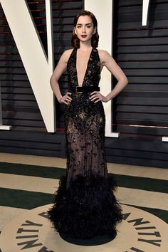 Lily Collins afterparty oscar 2017