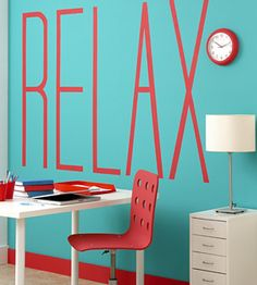 """This is completely unrelated, but the typeface and color choice of """"Relax"""" here scream the opposite to me."""