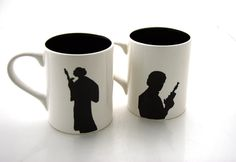 Oooo the front of those mugs!!!! Star Wars Han Solo and Leia  Mug Set I love You I know $38.00, via Etsy.