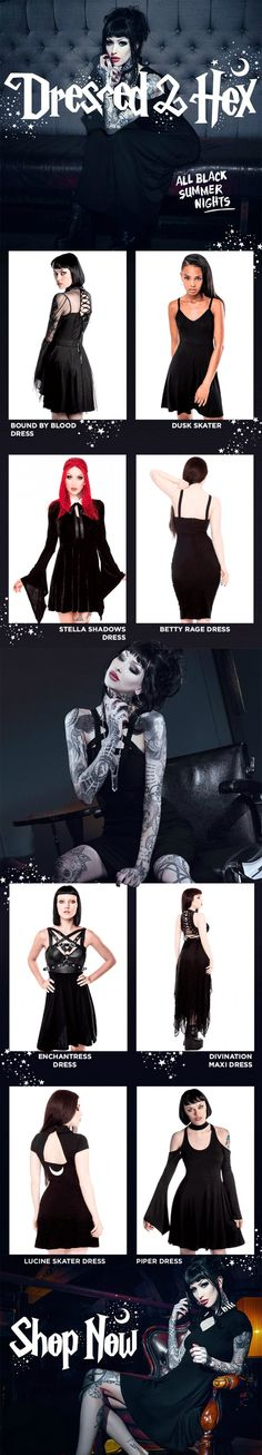 All Black Summer Nights! KILLSTAR Gothic Dresses . Shop the collection at KILLSTAR.com We Ship Worldwide!