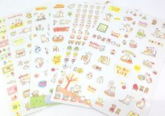 Kawaii Stickers; Planner Stickers; Diary Stickers; Filofax Stickers; Cute Stickers; Cute Stationery; Planner Supplies; Kawaii Stationery