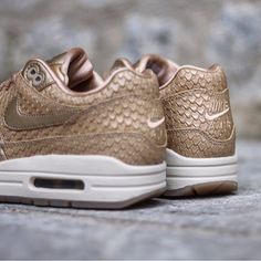 huge discount f84b6 1d32f Nike Air Max 1 Premium « Gold-Fishes-White » 454746-900 Size