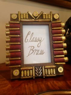 5x7 Bullet Casing and Shotgun Shell Frame by ClassyBrassDesigns
