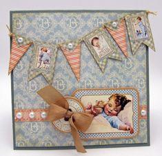 Graphic45 Little Darlings Boyish Card by christian