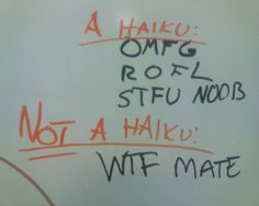 Whiteboard: A l33t haiku and somthing else. by blue_j, via Flickr (by nc 2.0)