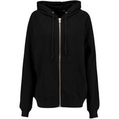 BLK DNM Sweatshirt 3 printed cotton-blend hooded top (165 NZD) ❤ liked on Polyvore featuring tops, hoodies, black, zip sweatshirt, zipper top, zipper sweatshirt, sweatshirts hoodies and zip hoodies