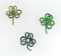 Le Blog de Frivole: Trio de Trèfles - Free pattern by J. Paulson #tatting #leaf