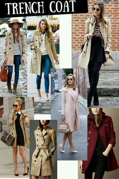 dress and coat outfit Trench Coat Outfit, Trench Coat Style, Burberry Trench Coat, Style Casual, Casual Outfits, Cute Outfits, Look Fashion, Winter Fashion, Fashion Outfits