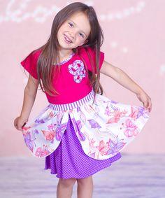 Pink & Purple Felicity Dress - Toddler & Girls by Jelly the Pug #zulily #zulilyfinds