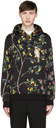 Dolce & Gabbana Black Lemon Hoodie