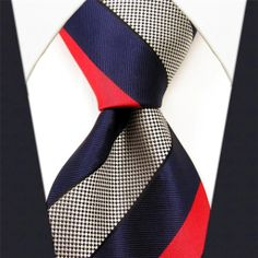 Red / Blue Stripe - Neckties Only Collection