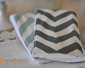 Baby Burp Cloths - Baby Accessories - New Mom Gift - Set of 3 - Chevron