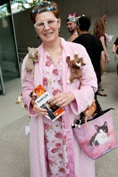 crazy cat lady costume from the internet cat video awards in st louis - St Louis Halloween Store