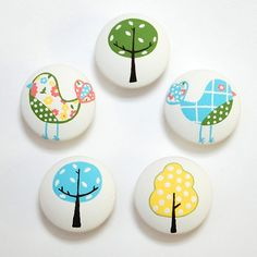 beautiful painted drawer pulls