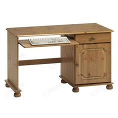 Steens Kensington Single Pedestal Desk In Pine