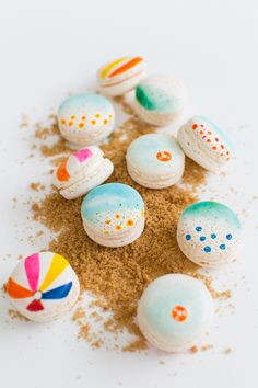 DIY beach macarons   sugar & cloth