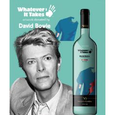 DAVID BOWIE. shiraz red wine - for selected projects in support of key global development causes-poverty alleviation, environmental conservation and the protection of children.