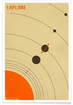 Solar System as Premium Poster by Jazzberry Blue | JUNIQE