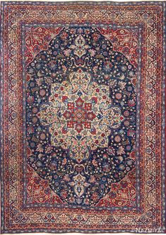Persian Rugs for a Classy Interior persian rugs antique blue bakground isfahan persian rug 51066 nazmiyal CFCVOTE Blue Persian Rug, Persian Carpet, Red Persian Rug Living Room, Shabby Chic Antiques, Décor Antique, Rug Inspiration, Red Rugs, Carpet Colors, Rugs Online