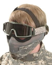 Brass-Guard Bat Mesh brassguard safety Mask airsoft - acu army