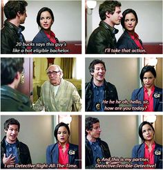 Eligible bachelor ~ Brooklyn Nine-Nine Quotes ~ Season 1, Episode 1: Pilot #amusementphile