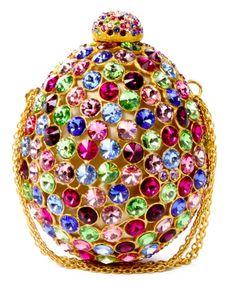 Sparkle Crystal Rivoli Evening Bag By Judith Leiber