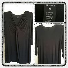 ?? NWOT Woman's Black Knit Tunic Size 1X ?? Brand New Never Worn Woman's Black Knit Tunic From Woman Within. The Brand Is Ellos & Size Is 1X. This Fits Genourously And Looks Super Cute With Leggings. Excellent Condition Retails For: $30 + S&H + Taxes ?? TRADES ?? PAYPAL ?? OFFERS ACCEPTED AT THIS TIME PRICE IS FIRM ?? Woman Within  Tops Tunics