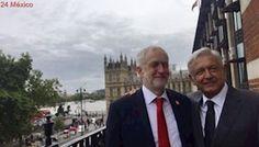 AMLO visita Parlamento británico en gira por Europa