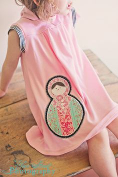 Girls Organic Knit Sleeveless Matryoshka Hoody Dress... Sizes 2T through 10. $62.00, via Etsy. @April Cochran-Smith Jurgensen