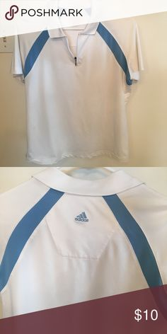 ADIDAS Golf shirt Ladies golf 1/2 zip GUC. Size medium tag came off in dryer😳. Adidas Tops
