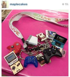 Miniature Video Game Controllers Keychains