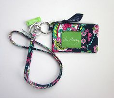 *New With Tags*Vera Bradley Zip ID Case and Lanyard in Petal Paisley