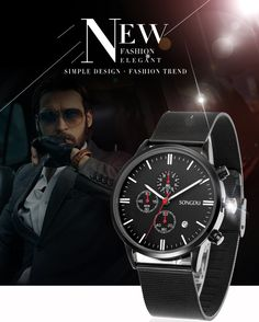 Man watch 2017 Luxury Brand SONGDU Gold stainless steel mesh belt Watch Fashion Sports Quartz Waterproof Calendar Watch men , https://myalphastore.com/products/man-watch-2017-luxury-brand-songdu-gold-stainless-steel-mesh-belt-watch-fashion-sports-quartz-waterproof-calendar-watch-men/,