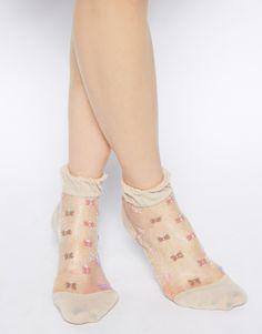 7dc8487b7 ASOS Sheer Floral Ankle Socks Sheer Socks
