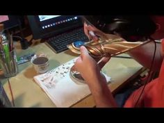Tutorial - Painting a Bracer - YouTube