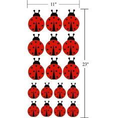 Ladybugs Vinyl Wall Art Decal  Set of 17 by StephenEdwardGraphic, $18.00