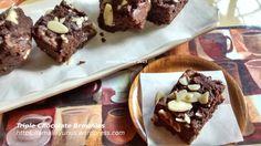 Triple Chocolate Brownies - tanpa telur