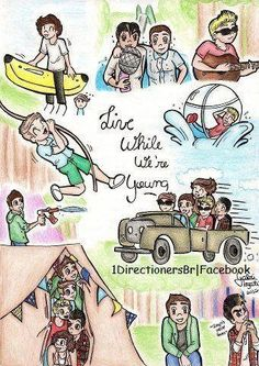 one direction cartoon | Isn't this cartoon drawing of the boys from One Direction SUPER ...