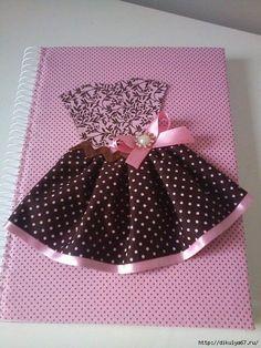 caderncaderno decoradoo decorado by rose ramos Mais Diy And Crafts, Crafts For Kids, Arts And Crafts, Paper Crafts, Fabric Book Covers, Diary Covers, Dress Card, Notebook Covers, Baby Cards