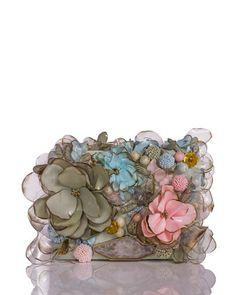 Marchesa Marisol Floral & Beaded Small Clutch Bag - Bergdorf Goodman