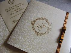 Marie Papiers     Convites Exclusivos: Convite Glamour Do Dourado