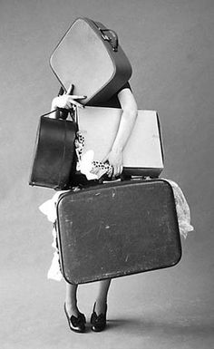 TIm Walker I really find this image interesting as it hides the womans identity and also gives a feeling off the woman having 'bagage' Tim Walker, Monday Inspiration, Travel Inspiration, Design Inspiration, Jolie Photo, Packing Light, Vintage Photography, Fashion Photography, Art Photography